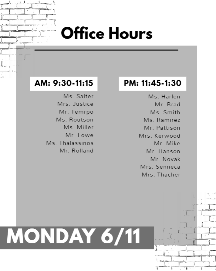 Office Hours Monday